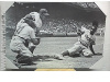 FRAMED PHOTO of JACKIE ROBINSON STEALING HOME